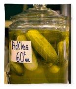 Pickle Jar Fleece Blanket