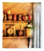 Jars - Kitchen Shelves Fleece Blanket