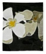 Jasmine Expressive Brushstrokes Fleece Blanket