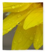 Jaune Petals Fleece Blanket