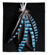 Jay Feather 2 Without Text Fleece Blanket