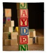 Jayden - Alphabet Blocks Fleece Blanket
