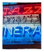 Jazz Funeral And Lamp Nola Fleece Blanket