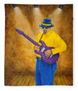 Jazz Guitar Man Fleece Blanket