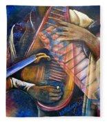Jazz In Space Fleece Blanket
