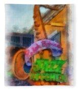 Jazz Kitchen Signage Downtown Disneyland Photo Art 01 Fleece Blanket