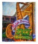 Jazz Kitchen Signage Downtown Disneyland Photo Art 02 Fleece Blanket