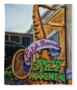 Jazz Kitchen Signage Downtown Disneyland Fleece Blanket