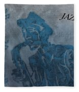 Jazz Man Fleece Blanket