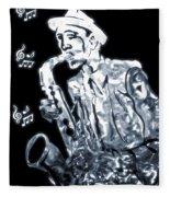 Jazz Notes Fleece Blanket