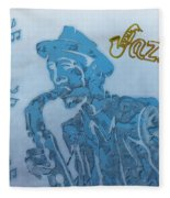 Jazz Saxophone Fleece Blanket