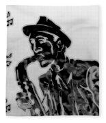 Jazz Saxophone Man Fleece Blanket