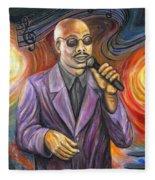 Jazz Singer Fleece Blanket
