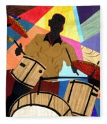 Jazzy Drummer Fleece Blanket