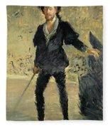 Jean Baptiste Faure In The Opera Hamlet By Ambroise Thomas Fleece Blanket