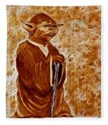 Jedi Master Yoda Digital From Original Coffee Painting Fleece Blanket