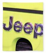 Jeep Logo Fleece Blanket