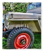 Jeep Willys Ww2 Fleece Blanket