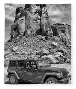 Jeep...it's A State Of Mind Fleece Blanket