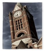 Jefferson County Courthouse Clock Tower Fleece Blanket