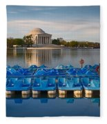 Jefferson Memorial And Paddle Boats Fleece Blanket