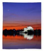 Jefferson Memorial At Dawn Fleece Blanket