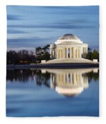 Washington Dc Jefferson Memorial In Blue Hour Fleece Blanket