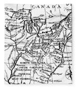 Jefferson: States, 1784 Fleece Blanket