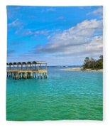 Jekyll Island Just Like Paradise Fleece Blanket