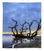 Jekyll Island Seascape Fleece Blanket