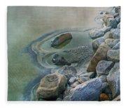 Jekyll Island Tidal Pool Fleece Blanket