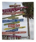 Jekyll Island Where To Go Fleece Blanket