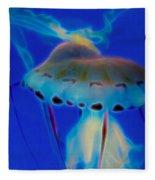 Jellyfish 2 Digital Artwork Fleece Blanket