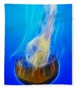 Jellyfish Fractal Fleece Blanket
