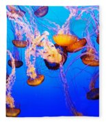 Jellyfish In Abundance Fleece Blanket