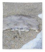 Jellyfish On The Sand Fleece Blanket
