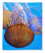 Jellyfish Trio Fleece Blanket