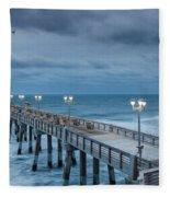 Jennette's Fishing Pier Fleece Blanket