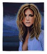 Jennifer Aniston Painting Fleece Blanket