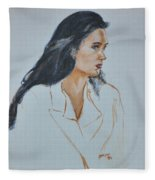 Jennifer Connelly Fleece Blanket