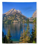 Jenny Lake Overlook Fleece Blanket