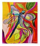 Jenny's Dragonfly In Acrylic Fleece Blanket