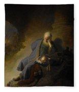 Jeremiah Lamenting The Destruction Of Jerusalem Fleece Blanket
