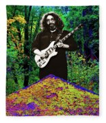 Jerry At The Cosmic Pyramid In The Woods  Fleece Blanket