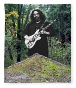 Jerry At The Pyramid In The Woods Fleece Blanket
