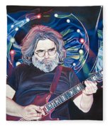 Jerry Garcia And Lights Fleece Blanket