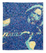 Jerry Garcia Chuck Close Style Fleece Blanket