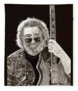 Jerry Garcia String Beard Guitar Fleece Blanket