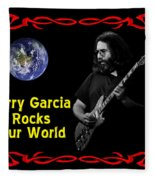 J G  Rocks Our World Fleece Blanket