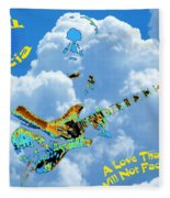 Jerry In The Sky With Love Fleece Blanket